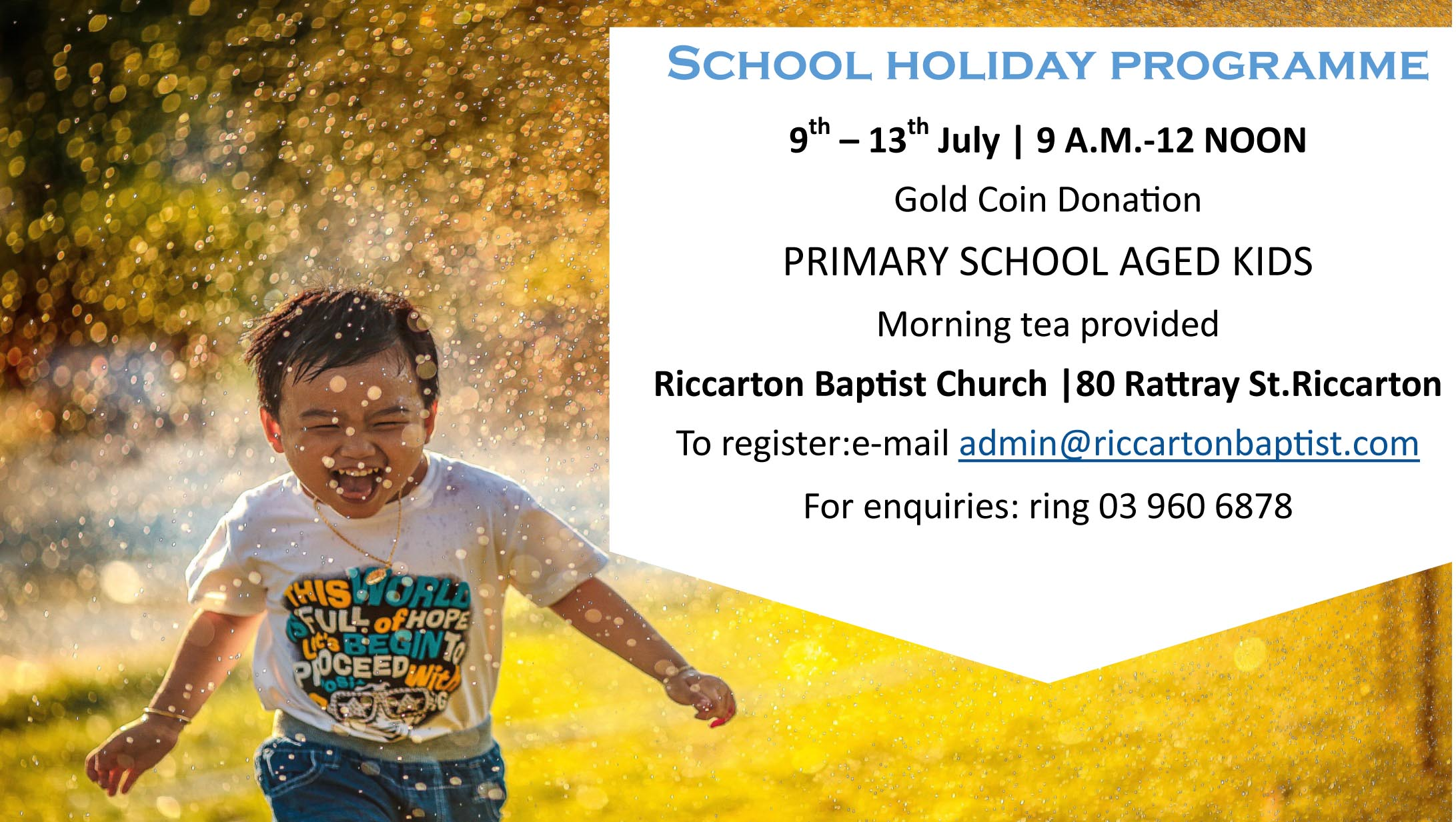 Holiday programme July 18